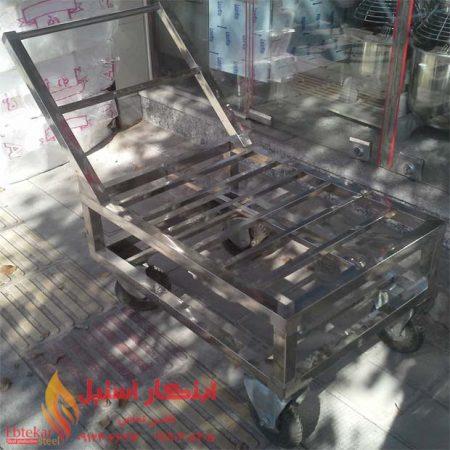 چرخ دستی حمل دیگ | گاری حمل دیگ رستوران | چرخ گاری آشپزخانه