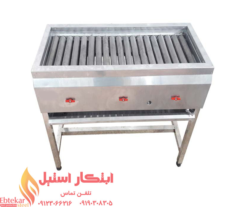 کباب پز گازی تمام استیل   کباب پز استیل   کباب پز صنعتی   کباب پز گازی رستوران