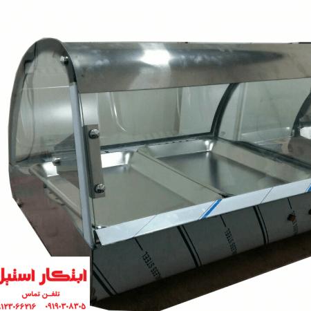 گرمکن پیراشکی و سمبوسه | دیسپلی گرم سمبوسه | گرمکن صنعتی رومیزی