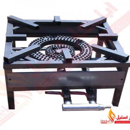 اجاق پلوپز 45 پروفيل آهنی | اجاق گاز پلوپزی آهنی | پلوپز 45 پروفيل آهنی