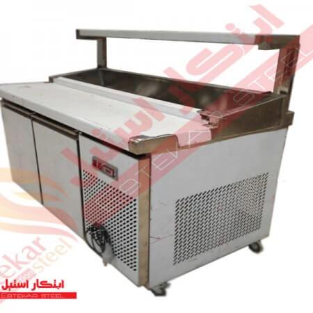 تاپینگ پیتزا فریزری | تاپینگ پیتزا یخچالی | دستگاه تاپینگ پیتزا استیل