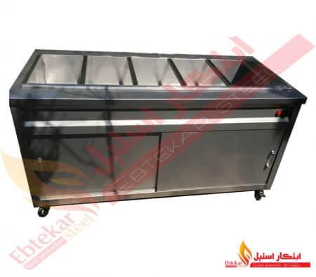 کانتر گرم برقی | دستگاه کانتر گرم استیل برقی | کانتر گرم برقی فست فود