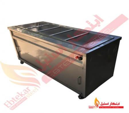 کانتر گرم | کانتر گرم سلف سرویس | دستگاه کانتر گرم استیل رستورانی