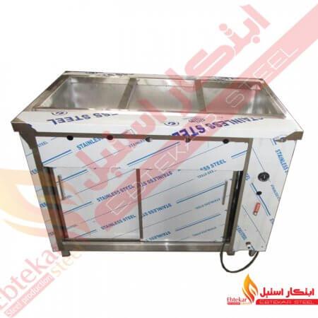 کانتر گرم چرخدار | کانتر گرم استیل پایه دار | کانتر گرم متحرک صنعتی