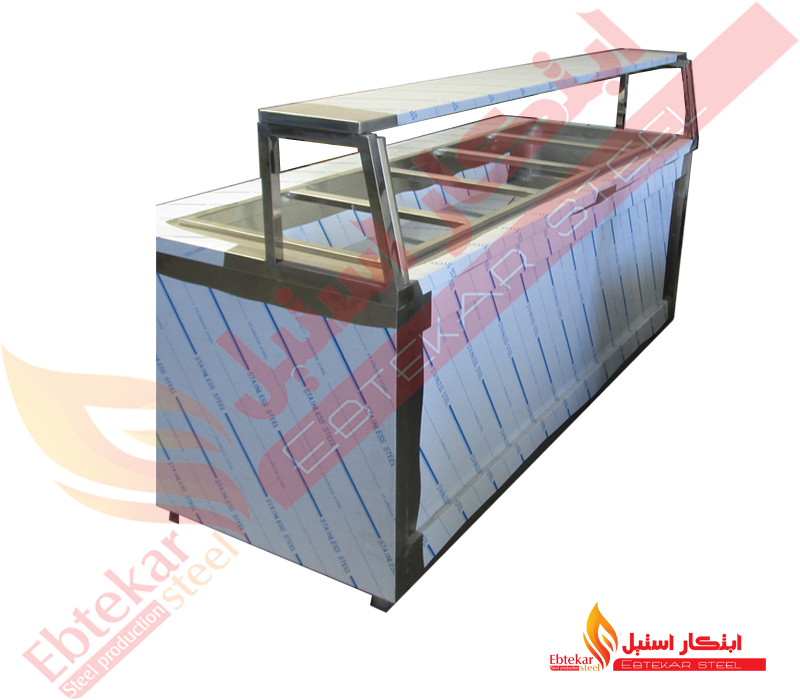 کانتر گرم آشپزخانه صنعتی | کانتر گرم استیل صنعتی | کانتر استیل آشپزخانه