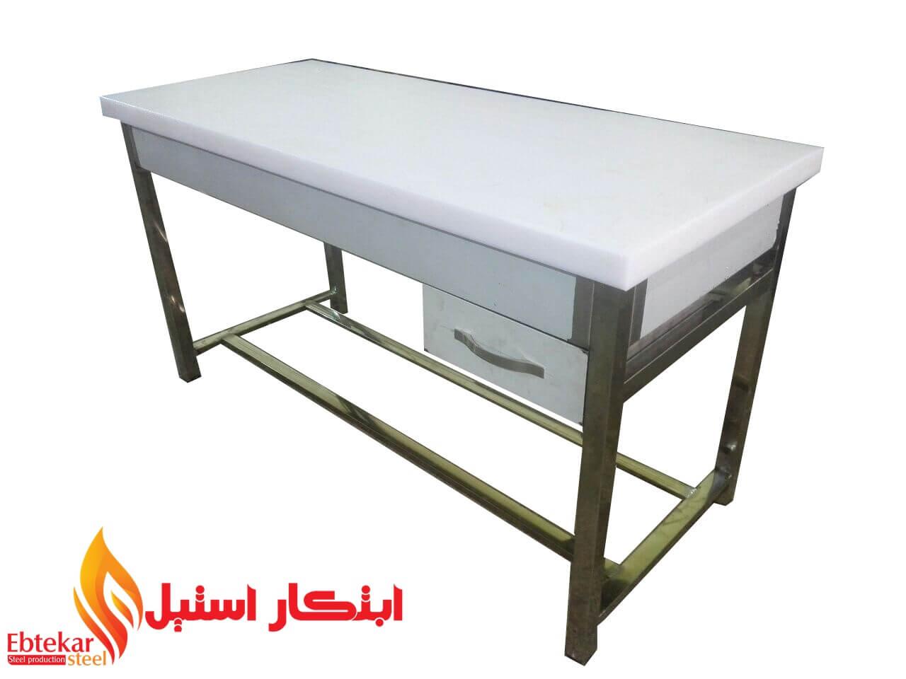 میز کار پلی اتیلن یک متری