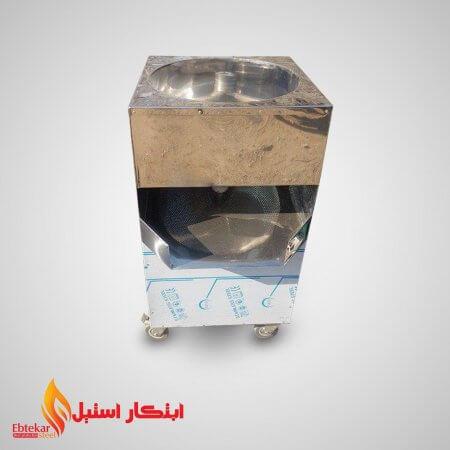 دیگ حلیم پزی استیل بدون موتور | پاتیل استیل حلیم پزی بدون موتور