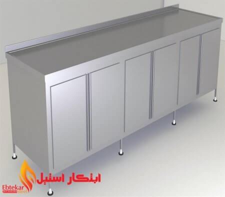 کابینت استیل نگیر | کابینت استیل صنعتی | کابینت استیل آشپزخانه صنعتی