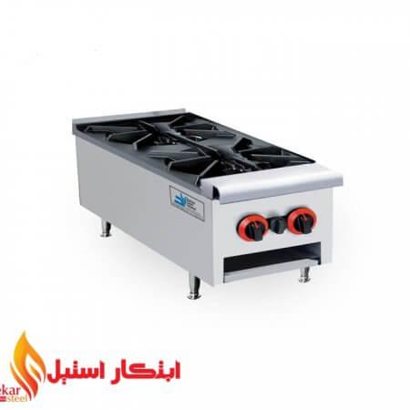اجاق گاز رومیزی دو شعله صنعتی | اجاق گاز دو شعله رومیزی | اجاق رومیزی