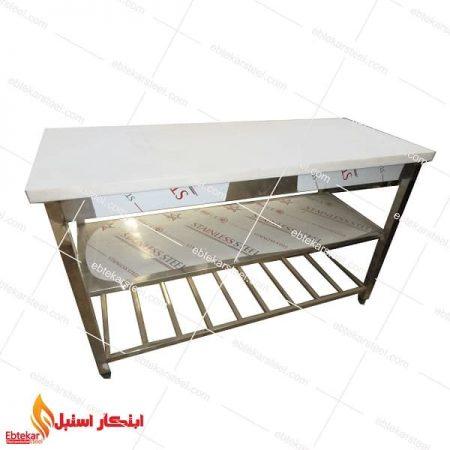 میز کار پلی اتیلن 1 متری